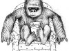 gorilla illustration for milk packages 2011