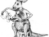 kangaroo illustration for milk packages 2011