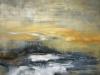 """""""Mellan ockra och det grå"""" 80x85 cm. Oil on canvas"""
